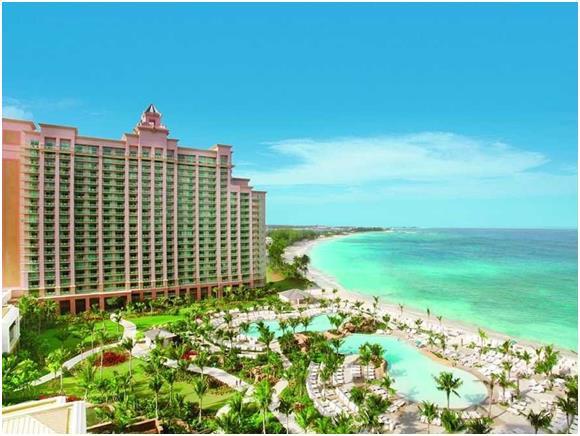 """وفي جزيرة """"بارادايس"""" التابعة لجزر """"البهاما""""، يمكن أن يصل سعر حجز الغرفة الفندقية إلى 398 دولارّا."""