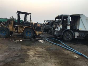 تعرض معدات ثقيلة تابعة لإحدى الشركات بمحافظة الخرمة لحريق متعمد