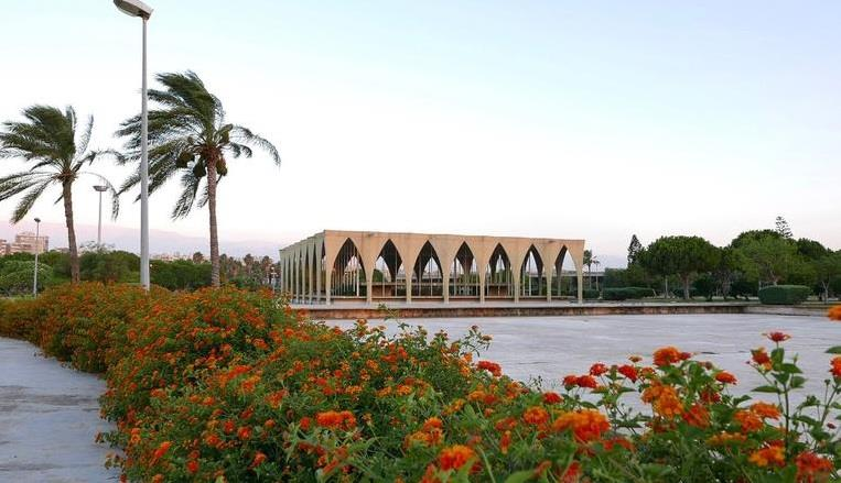 """واستوحي نيماير تصميم إحدى الأجنحة من الهندسة المعمارية الحلي، وأطلق عليه تسمية """"جناح لبنان."""""""