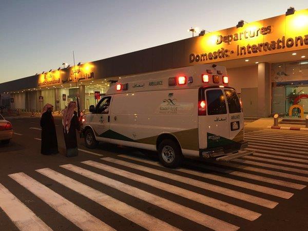 وصول طائرة الإخلاء الطبي الناقلة للمبتعثة بسمة العنزي