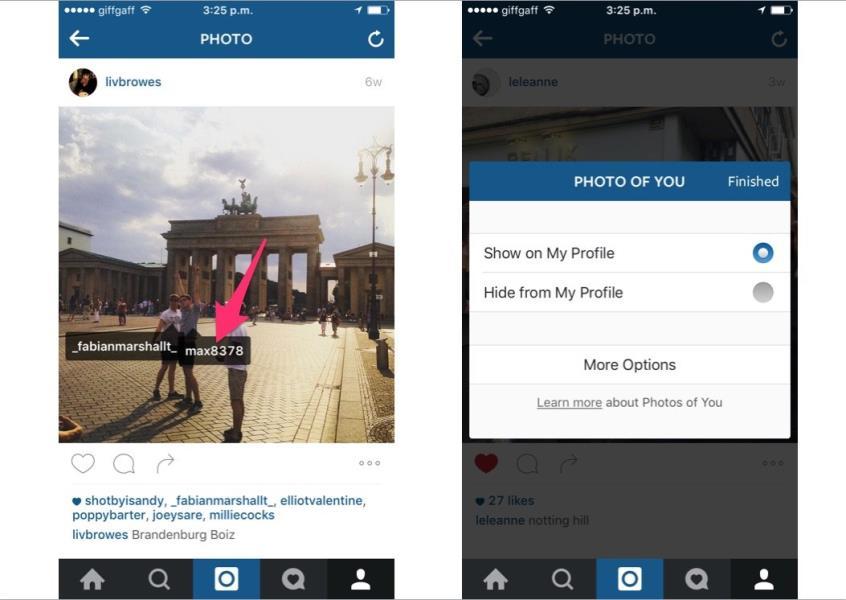 2 instagram Hide bad photos