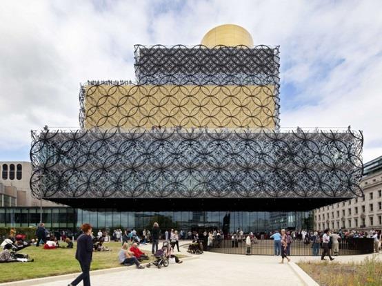 """مكتبة """"برمنجهام"""" أو """" Birmingham"""" في مدينة """"برمنجهام"""" في بريطانيا"""