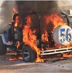 حرق سيارة