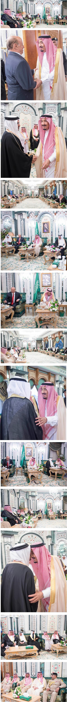 خادم الحرمين الشريفين يستقبل الرئيس اليمني وولي عهد البحرين ورئيس مجلس الأمة بالكويت