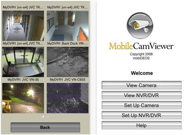 """يتيح تطبيق """"Mobile Cam Viewer"""" لمستخدميه، التحكم ومراقبة كاميرات الأمن الخاصة بهم، ويمكن أن يرى عدة أشخاص نفس الكاميرا في الوق"""