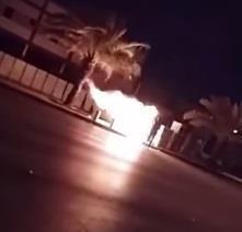 احراق كاميرا ساهر