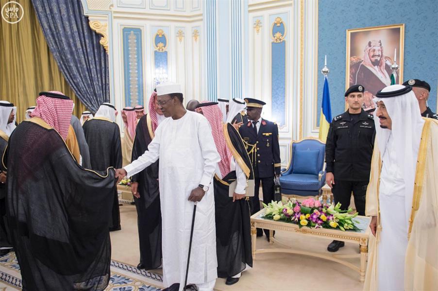 خادم الحرمين الشريفين يستقبل فخامة رئيس جمهورية تشاد