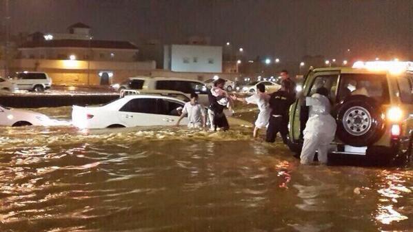 الرياض تغرق