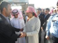 الوليد بن طلال يتفقد مخيم الزعتري