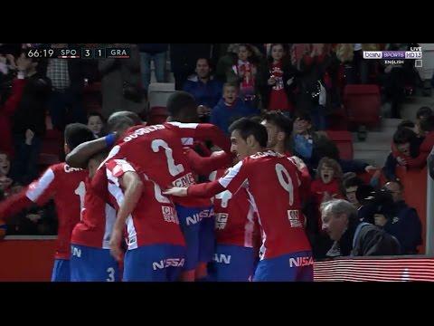سبورتنج خيخون ( 3 - 1 ) غرناطة الدوري الاسباني