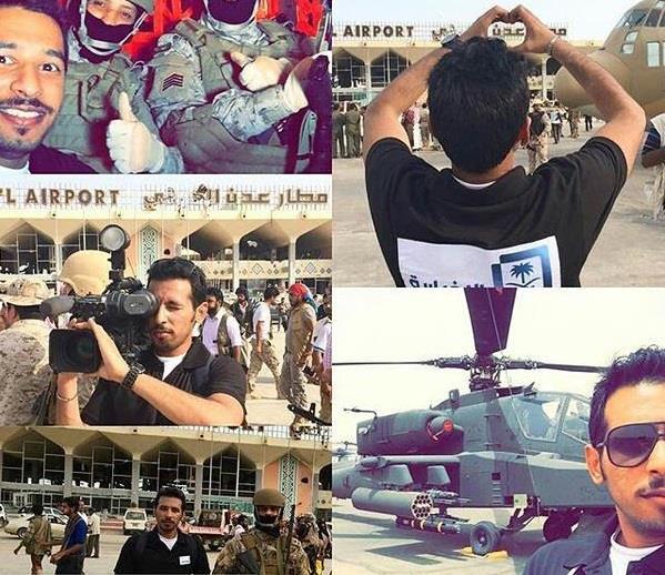 صور لأول فريق إعلامي سعودي بمطار عدن منذ بدء عاصفة الحزم وإعادة الأمل