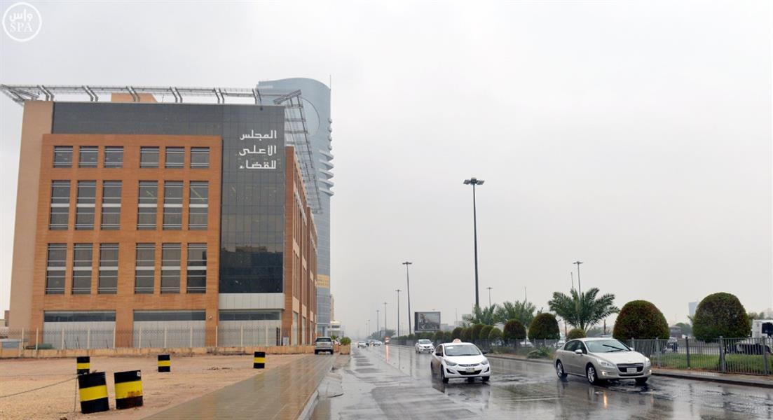 هطول أمطار على مدينة الرياض