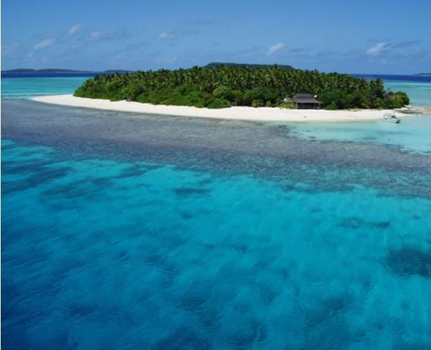 جزيرة MOUNU  في مملكة تونجا الواقعة في جنوب المحيط الباسيفيكى ، والمتكونة من أرخبيل يضم 169 جزيرة، وقد صُنفت هذة الجزيرة بين أف