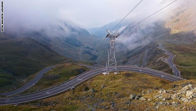"""طريق """"Transfagarasan"""" في رومانيا،"""