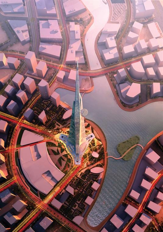 """2- برج المملكة - جدة، السعودية   - تم تعيين """"أدريان سميث"""" مُصمم برج """"خليفة"""" البالغ طوله 828 متراً في دبي لتصميم برج """"المملكة"""""""