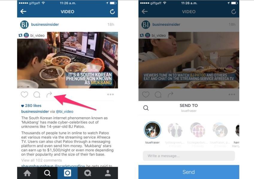 7 Instagram send direct messages