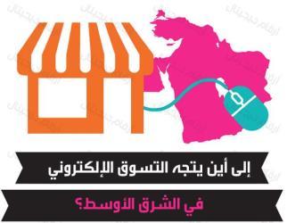 توبك انفوجرافيك  التسوق الإلكتروني في الشرق الأوسط