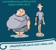 انفوجرافيك الصحة في رمضان توبك