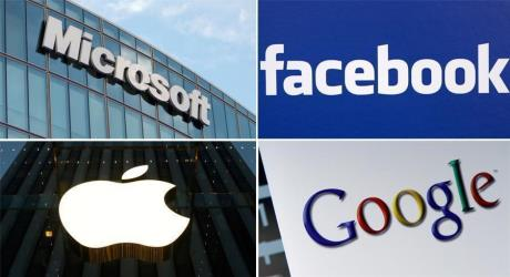 apple, alphabet, microsoft وfacebook