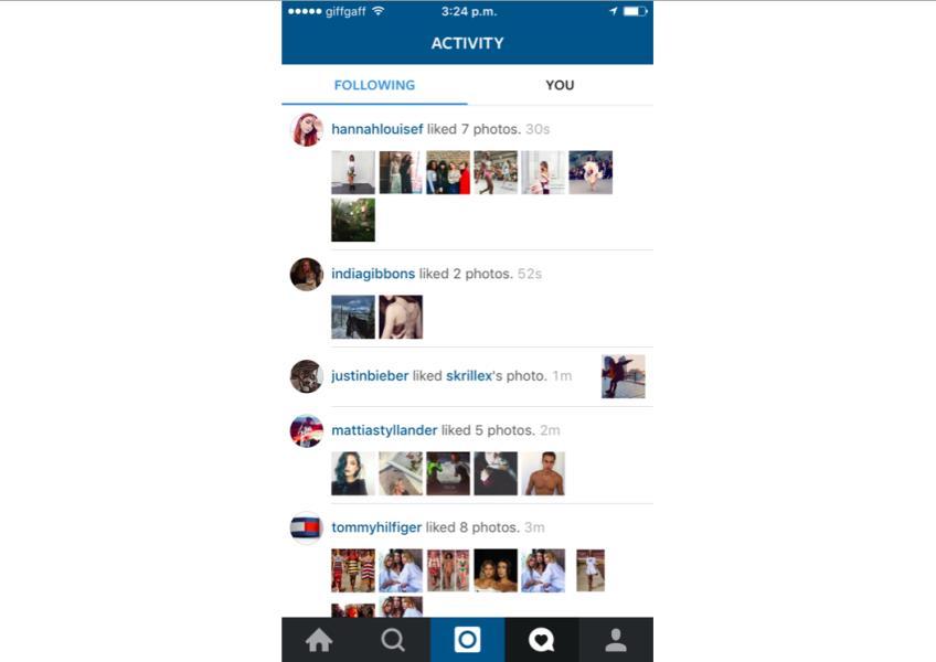 3 instagram friends liking