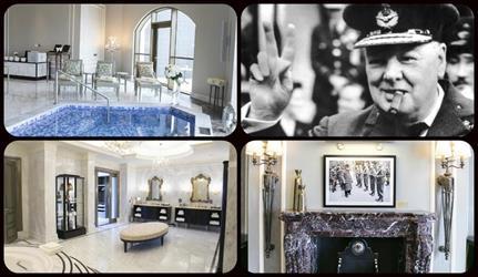 بالصور.. شاهد جناح تشرشل في فندق سانت ريجيس دبي