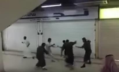 مضاربة جماعية في مركز تجاري بحفر الباطن والاعتداء على شابين بالضرب المبرح