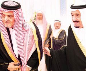 ومع خادم الحرمين الشريفين الملك سلمان بن عبدالعزيز