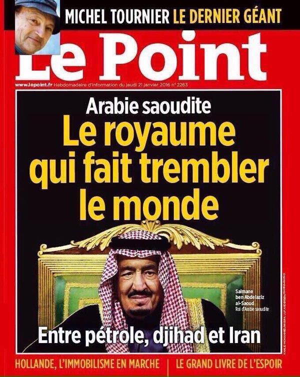صحيفة فرنسية تضع صورة الملك سلمان في واجهتها