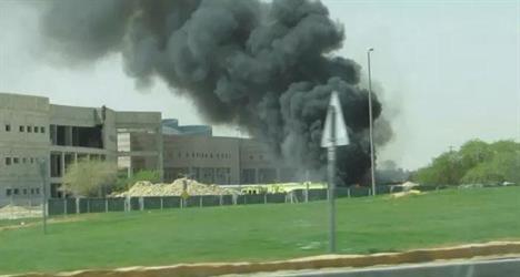 حريق في حرم جامعة الإمام صباح اليوم ولا إصابات