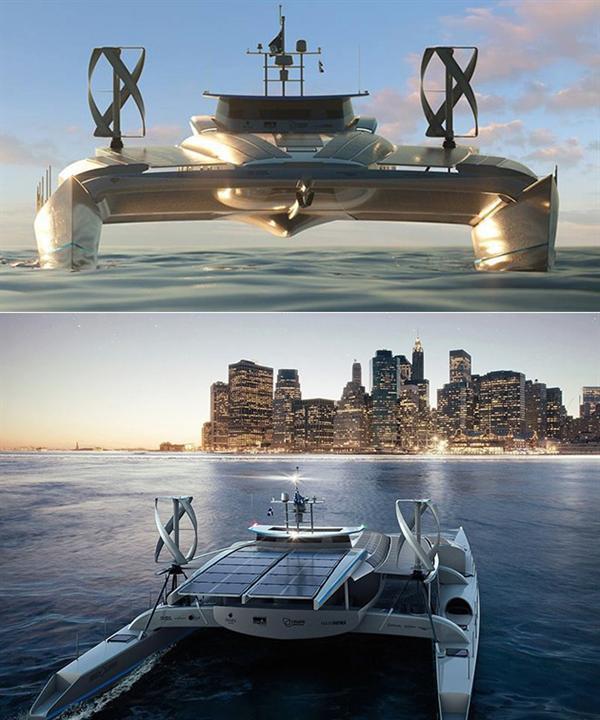 بالصور.. قارب يزود نفسه بالطاقة ينطلق في رحلة تستمر ست سنوات حول العالم