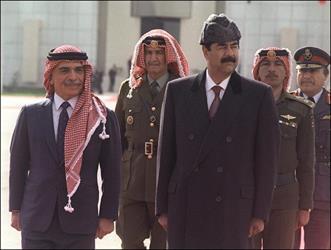 صدام حسين - ملك الاردن
