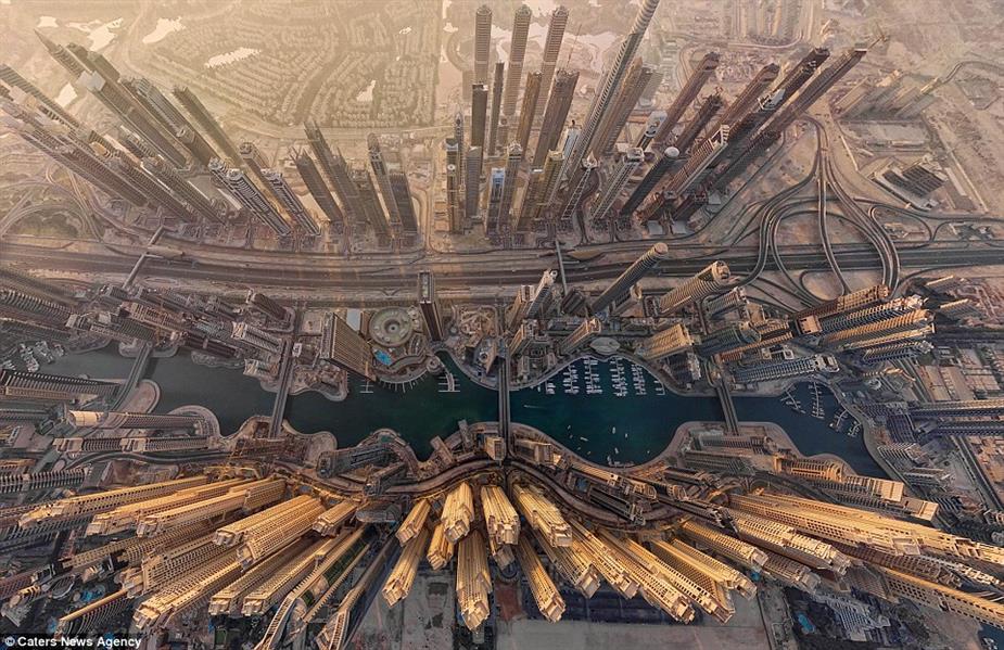 دبي لا تتوقف ابدًا عن الإبداع، وهذه الصورة من الجو بأسلوب AirPano تظهر المدينة في شكل جديد لا يصدق