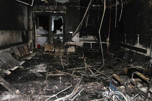صور حريق مستشفي جازان اليوم