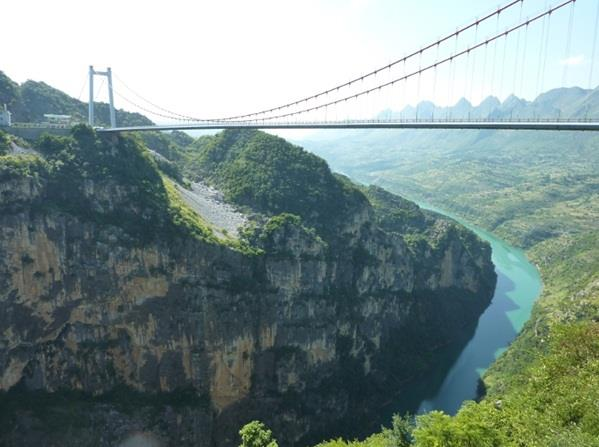 """جسر نهر """"بيبانجيان"""" في مقاطعة """"قويتشو"""" الصينية"""