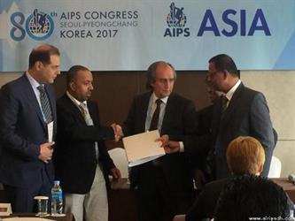 التحقيقات تطيح برئيس الاتحاد الآسيوي للصحافة الرياضية