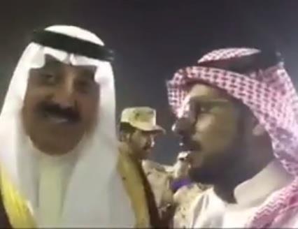 """بالفيديو.. الأمير متعب بن عبدالله: """"يا حظي بالحرس.. ويا حظي أني سعودي"""""""