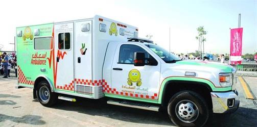 """دبي تطلق أول """"سيارة إسعاف للسعادة"""" في العالم"""