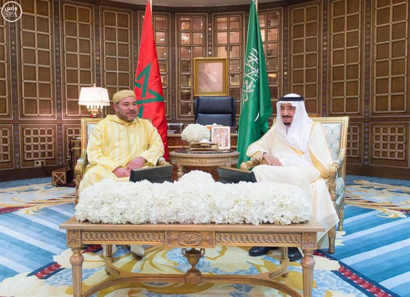 بالصور.. خادم الحرمين الشريفين يستقبل الملك محمد السادس ملك المغرب