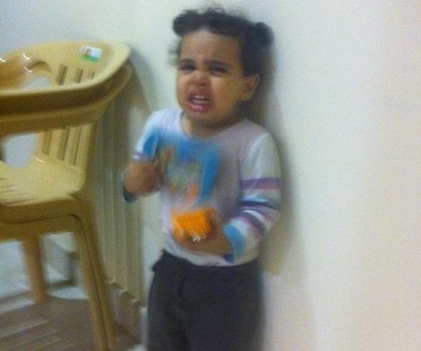 طفلة جامع الوابل بالدمام الطفلة