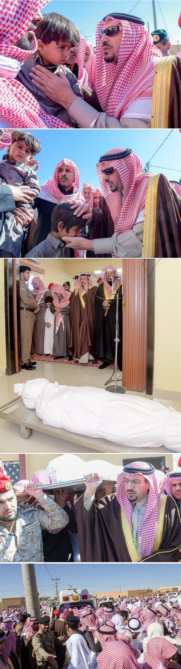 أمير القصيم يتقدم المصلين على جثمان الشهيد عبدالرحمن الحربي