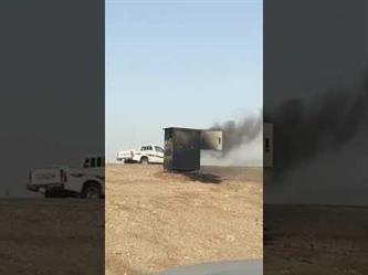 """فيديو يُوثق اشتعال النيران في جهاز """"ساهر"""" على طريق الرياض المجمعة.. والمصور يعبر عن فرحته"""