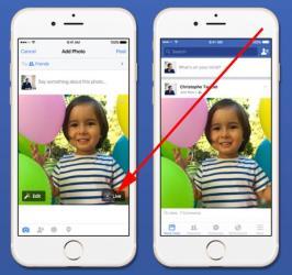 share apple live photos on facebook
