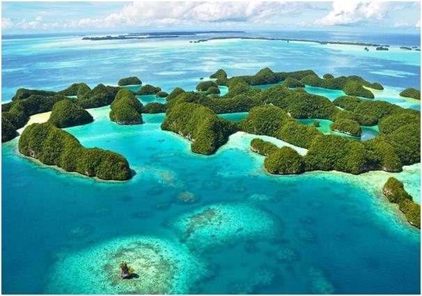 تتكون جزر الصخر جنوب بحيرة بالاو من أكثر من 400 من جزر الحجر الجيري، وما يقرب من 400 نوع من الشعاب المرجانية، يعيش بها 21 ألف