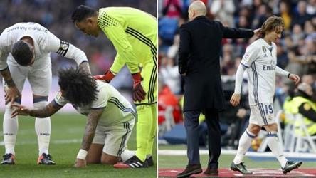 إصابة مودريتش ومارسيلو ثنائي ريال مدريد