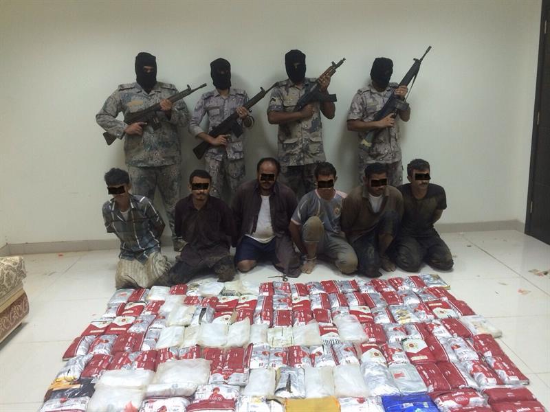 حرس حدود مكة يحبط محاولة تهريب كمية من الحشيش المخدر