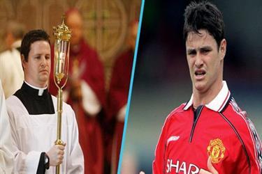 لاعب مانشستر يونايتد السابق يتحول إلى كاهن في كنيسة