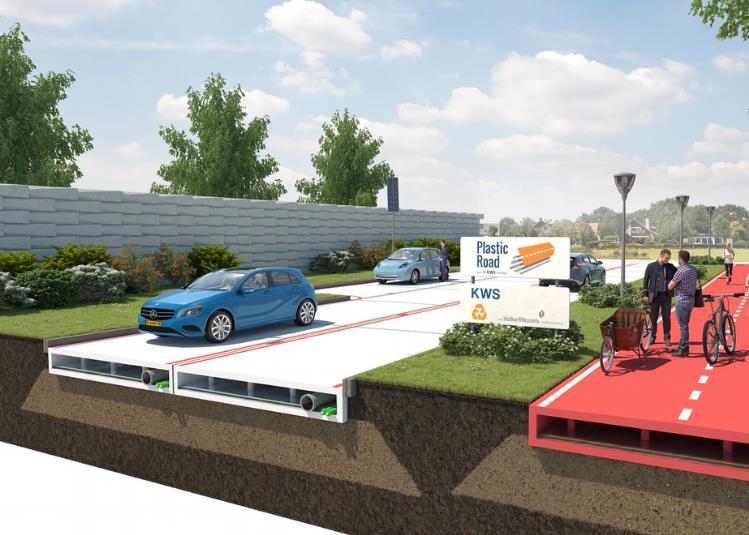 """وقال مجلس مدينة """"روتردام"""" إنه بصدد دراسة تجربة أول نوع من الطرق يتم تمهيدها باستخدام بدائل صديقة للبيئة من خلال عمليات إعادة ت"""