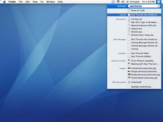 """تظهر قائمة البحث """"Spotlight"""" عند الضغط على أزرار """"Command"""" + """"Spacebar"""" , وهي لا تسُتخدم للبحث عن الملفات فقط ولكنها تقوم بوظا"""