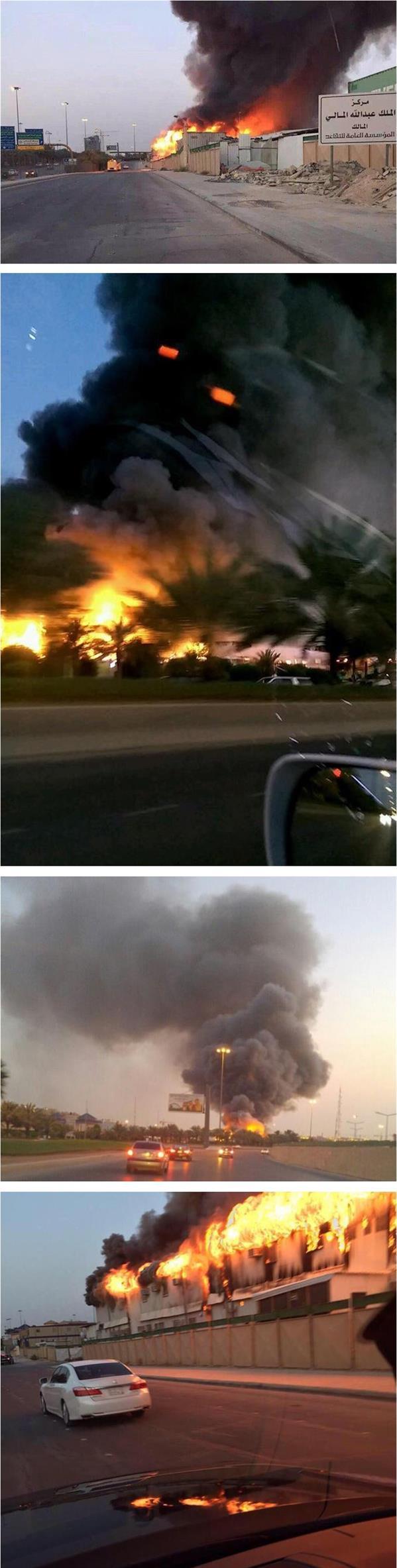 حريق في أحد المواقع التابعة لمشروع مركز الملك عبدالله المالي