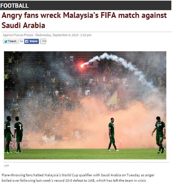 بالصور .. استياء عالمي من طريقة انتهاء مباراة ماليزيا والسعودية